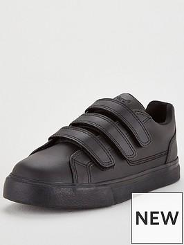 kickers-tovni-triple-strap-school-shoes-black
