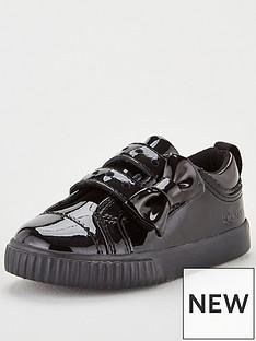 kickers-tovni-lo-bow-plimsolls-black