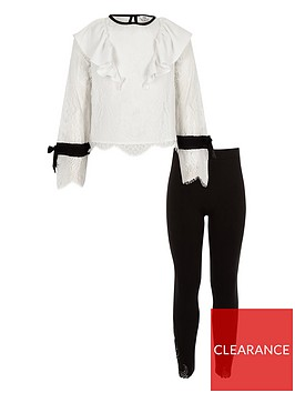 river-island-girls-lace-frill-top-and-leggings-set-white
