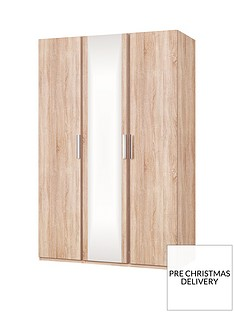 Waterford 3 Door Mirrored Wardrobe