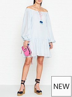 pitusa-pea-puff-sleeve-dress-blue