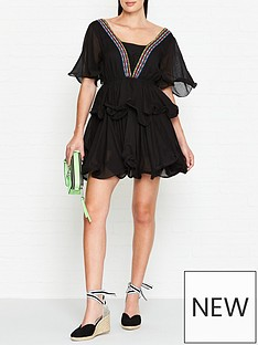 pitusa-tallulah-short-tiered-dress--black