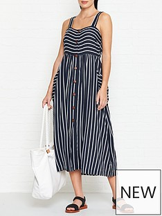 seafolly-stripe-button-through-dress-indigo