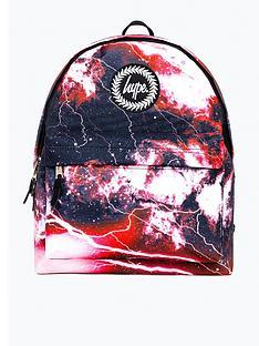hype-boys-red-lightening-backpack-multi
