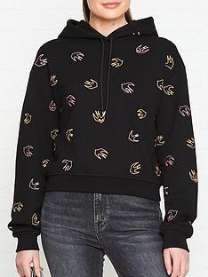 mcq-alexander-mcqueen-swallow-print-hoodie-black