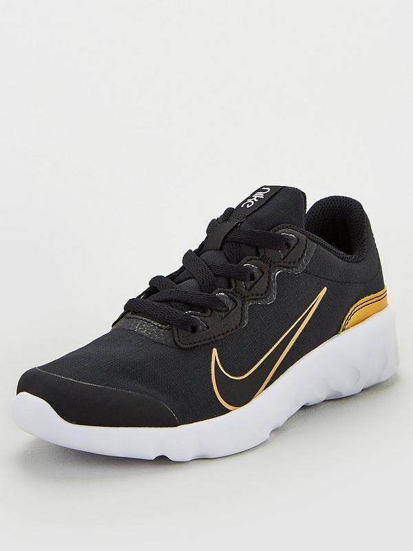 Invertir Calma Tahití  Nike Childrens Explore Strada VTB Trainers - Black/Gold/White ...