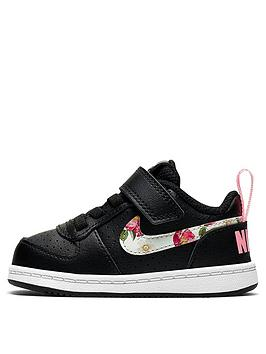 nike-childrens-court-borough-low-vintage-floral-trainers-black-multi