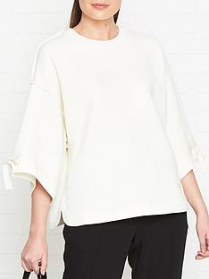 mcq-alexander-mcqueen-drawstring-short-sleeve-sweatshirt-cream