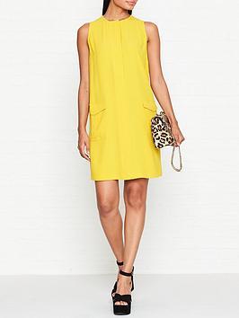 mcq-alexander-mcqueen-pocket-detail-mini-dress-yellow