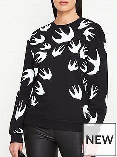mcq-alexander-mcqueen-swallow-print-sweatshirt-black