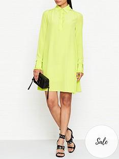 mcq-alexander-mcqueen-ruffle-trim-dress-lime-green