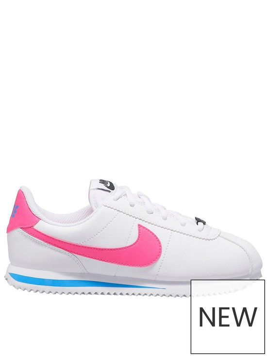 new products cbe01 4a96c Cortez Basic Junior Trainers - White/Pink