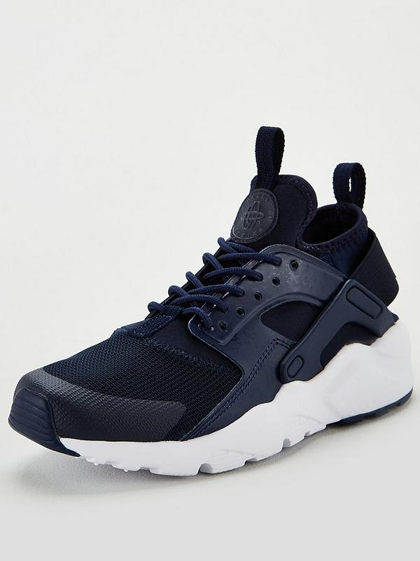 the cheapest more photos wholesale online Air Huarache Run Ultra Junior Trainers - Navy/White