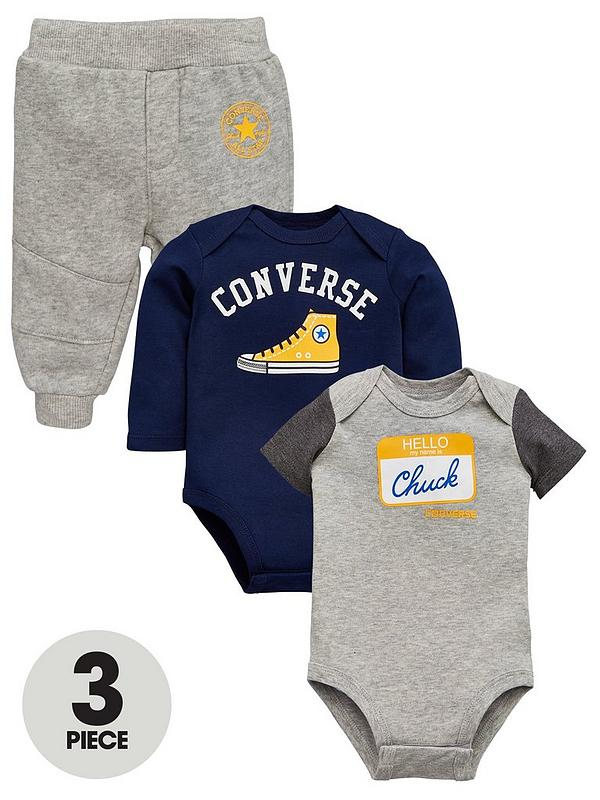 39350cada3e74 Converse Baby 3 Piece Retro Knit Set - Grey | very.co.uk