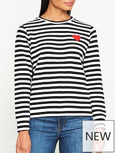 lulu-guinness-sami-stripe-sweatshirt-blackwhite