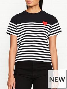lulu-guinness-macie-stripe-t-shirt-blackwhite