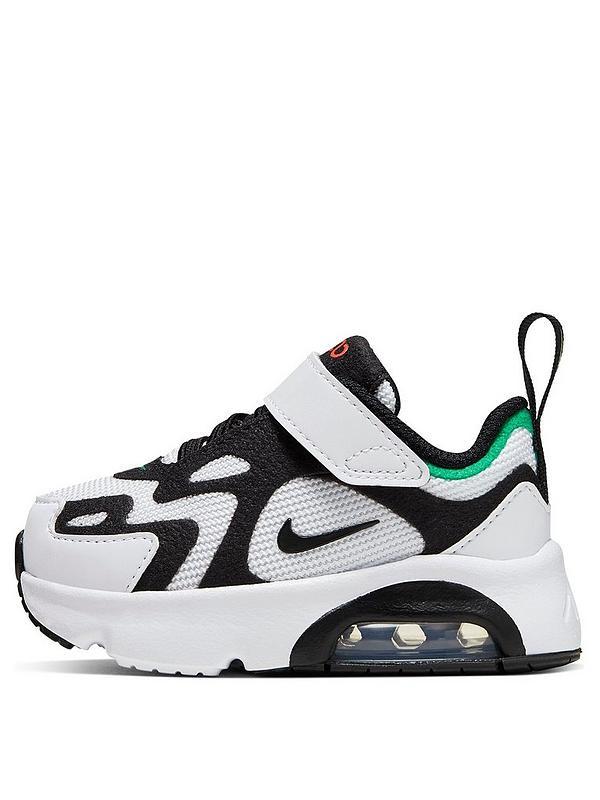 Nike WhiteBlack Air Max 200 Trainers