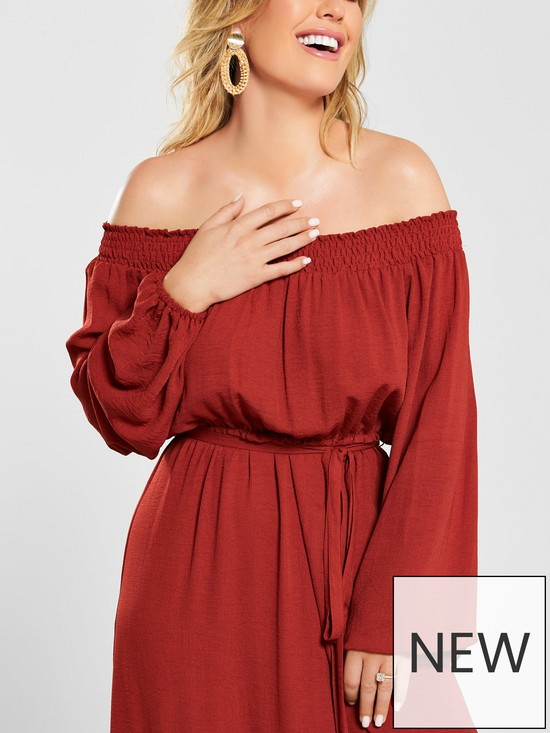 52212f3611032 ... Kate Wright Bardot Tiered Maxi Dress - Rust / Previous / Next. View  larger