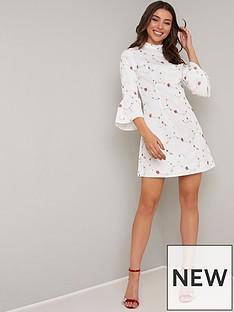 chi-chi-london-fern-floral-detail-mini-dress-whitenbsp