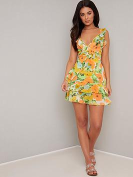 chi-chi-london-giadah-floral-dress-multi