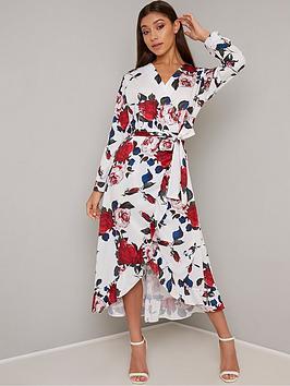chi-chi-london-floral-wrap-midi-dress-white