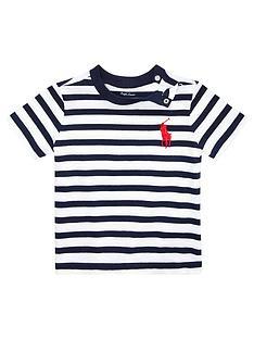 de36cee695c4a Ralph Lauren Baby Boys Short Sleeve Stripe T-shirt - Navy/Multi