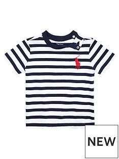 d6b0aa90c Ralph Lauren Ralph Lauren Baby Boys Short Sleeve Stripe T-shirt
