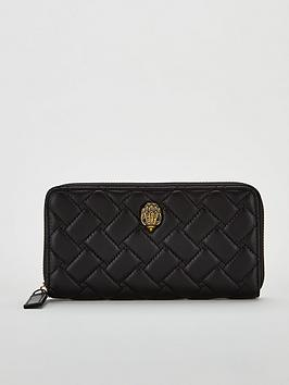 kurt-geiger-london-kensington-zip-around-wallet-black