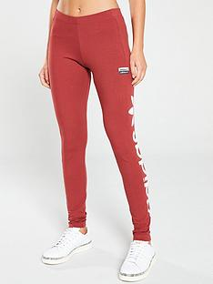 adidas-originals-logo-tights-red
