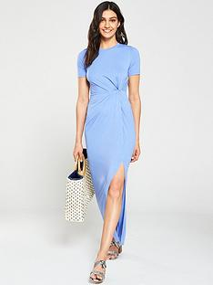 v-by-very-knotted-midi-dress-bluenbsp