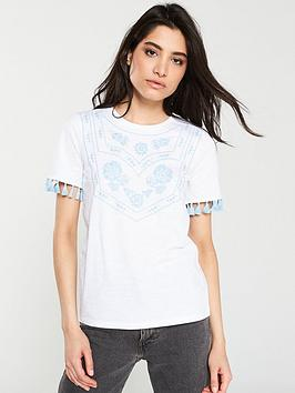 v-by-very-embroidered-tassel-tee-white