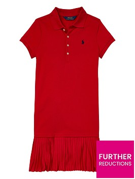 ralph-lauren-girls-pleat-polo-dress-red