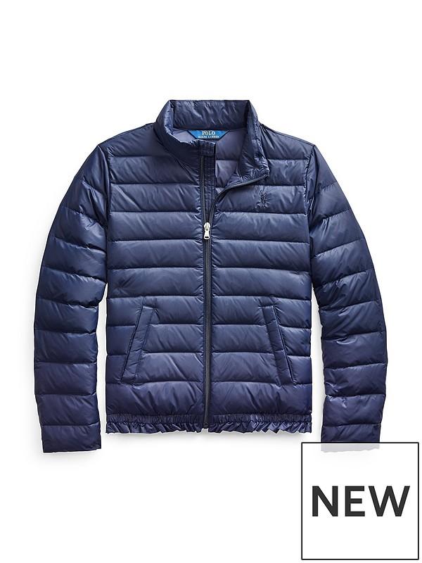 821a10f5a Ralph Lauren Girls Padded Jacket - Navy   very.co.uk