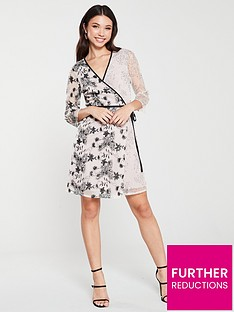 little-mistress-vintage-lace-and-sequin-mini-wrap-dress-mink