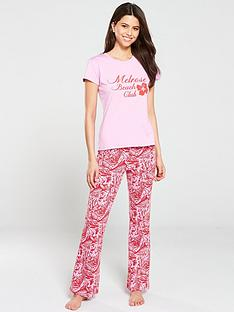 v-by-very-palm-leaf-flare-pj-set-red-pink