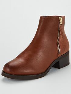 miss-kg-janice-side-zip-ankle-boot-tan