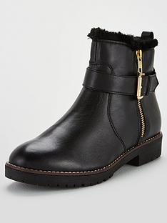 carvela-scout-faux-fur-trim-biker-boots-black