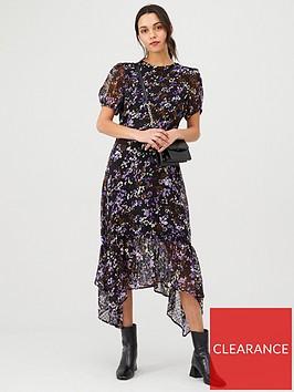 v-by-very-dobby-drop-hem-midi-dress-print