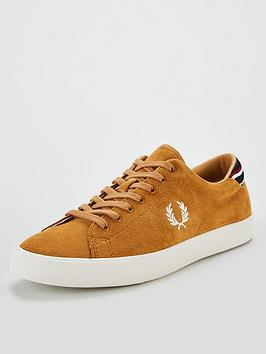 fred-perry-underspin-suede-trainers-tan