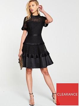 v-by-very-tiered-lace-skater-dress-black