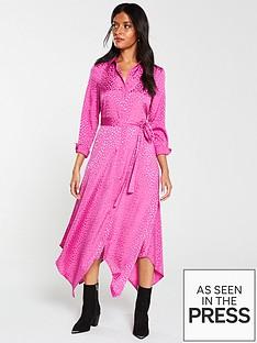 v-by-very-jacquard-shirt-midi-dress-pink