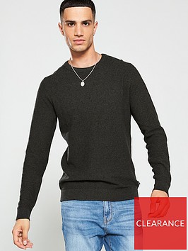 jack-jones-structure-knitted-jumper-forest-green