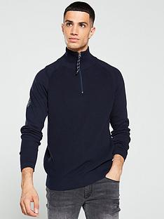 jack-jones-klover-quarter-zip-knitted-jumper-navy