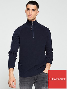 jack-jones-klover-quarter-zip-knitted-jumper-navy