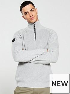 jack-jones-klover-quarter-zip-knitted-jumper-grey