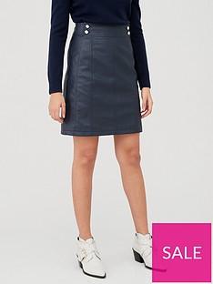 v-by-very-button-detail-pu-mini-skirt-navynbsp