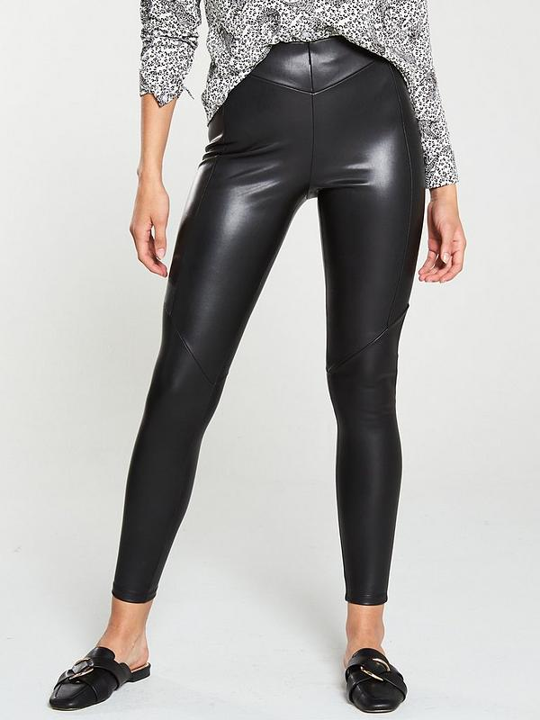 agreatvarietyofmodels better price sophisticated technologies Faux Leather Legging - Black