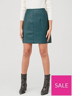v-by-very-faux-leather-mini-skirt-forest-greennbsp