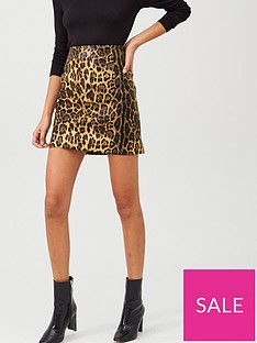 v-by-very-pu-printed-mini-skirt-animal