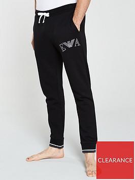 emporio-armani-bodywear-terry-eagle-logo-lounge-pants-black